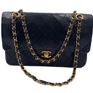 Authentic Chanel Classic Black Medium Flap GHW